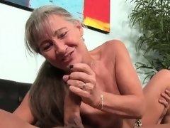 Ravishing Stepmom Giving Handjob