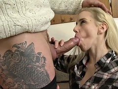 katrin wolf is in need of a tattooed hunk's engorged cock