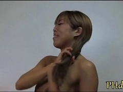 Heavyweight rod enters her anal