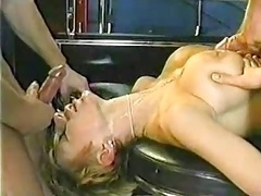 Sizeable bouncing Danish titties! Along with a facial.