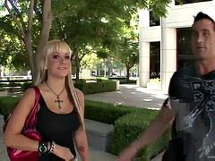 gorgeous blonde sucks and fucks a big cock