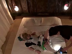 Kinky Japanese maid and her boss have a kinky fuck session