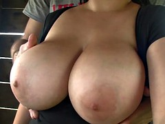 Busty Rose Treehouse BJ
