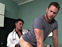muscle doctor anal sex and cumshot