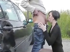 Outdoor Hot Fist & Blow Job