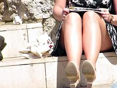 Blonde Has Very Nice Legs