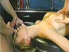 Sizeable bouncing Danish titties! Along with a facial.