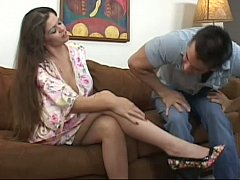 Busty mom fucking her step-son