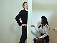 Big titted MILF boss office gloryhole suck and fuck