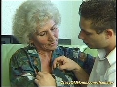 Aroused old mom
