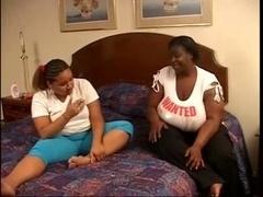 interracial adult bbw lez in action in bedroom