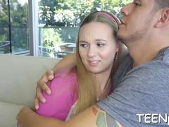 Cute teen seduced and smashed by a horny stud