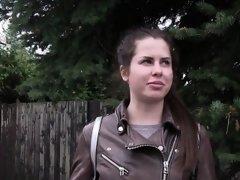 Russian tourist fucks big cock stranger in public