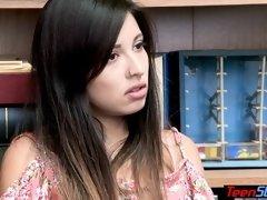 Latina teen cheater vendor fucked hard to keep her job