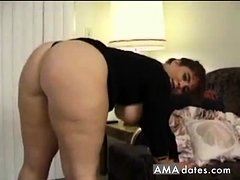 Huge cellulite ass in spandex flashing and fuck