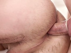 buttfucked hunk fingering and eating pussy