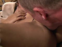 Thai slut riding the dude and having a strong orgasm