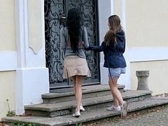 18 años, Pareja, Linda, Europeo, Sexo duro, Flaco, Falda, Adolescente