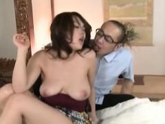 Oriental milf roughly fucked on web camera