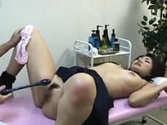 Perverted doctor likes to get schoolgirls in his exam room