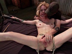 Hot blonde suffers for 2 hours without any breaks