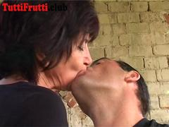 Euro mature outdoor anal