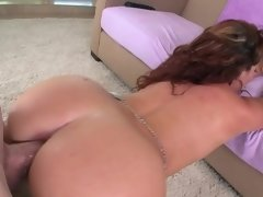 A curly girl with a sexy ass is getting penetrated from behind