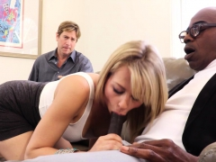 Sexy Blonde Girlfriend Fucks BBC For Cuckold Boyfriend