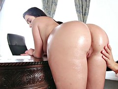 karlee grey bent over her desk and got her ass smacked by her boss keisha grey