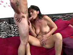 Granny gets rough sex with young horny boy