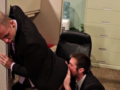 gay hunk office drilled until they cum