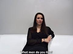 Monica does a porn casting