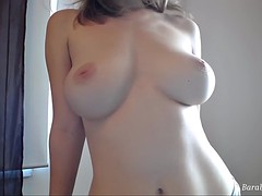 beautiful big tits babe camgirl with vibratoy on webcam