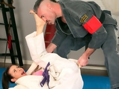 Alexis Fawx Learns Some New Martial Arts Tricks While Sucking Dick