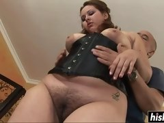 Hairy BBW gets fucked in various positions