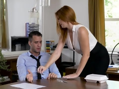 Hot secretary got fucked instead of working