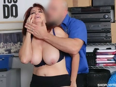 Good redhead MILF with huge boobs Andi James sucks his tasty prick