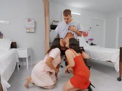 Nurses LaSirena and Luna Star make patient jizz