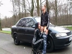 German Latex Slut (dirty talk outdoor sex)