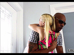 Little White Blonde Teen Step Sister Meets Big black Step step-brother boinked To Multiple Orgasms
