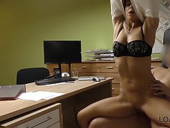 Loan4k. fantastic blond pays for her debts using her perfect you
