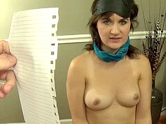 dark haired Captive Fifi Foxx is trussed, Facefucked, and Facialized by Stranger